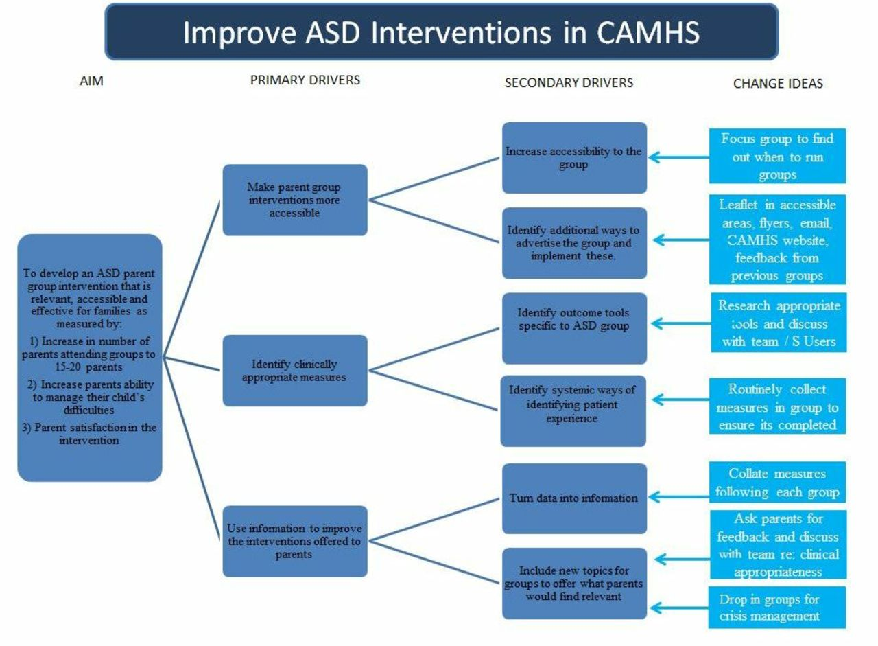Improving interventions for parents of children and young people with autism  spectrum disorder (ASD) in CAMHS | BMJ Open Quality