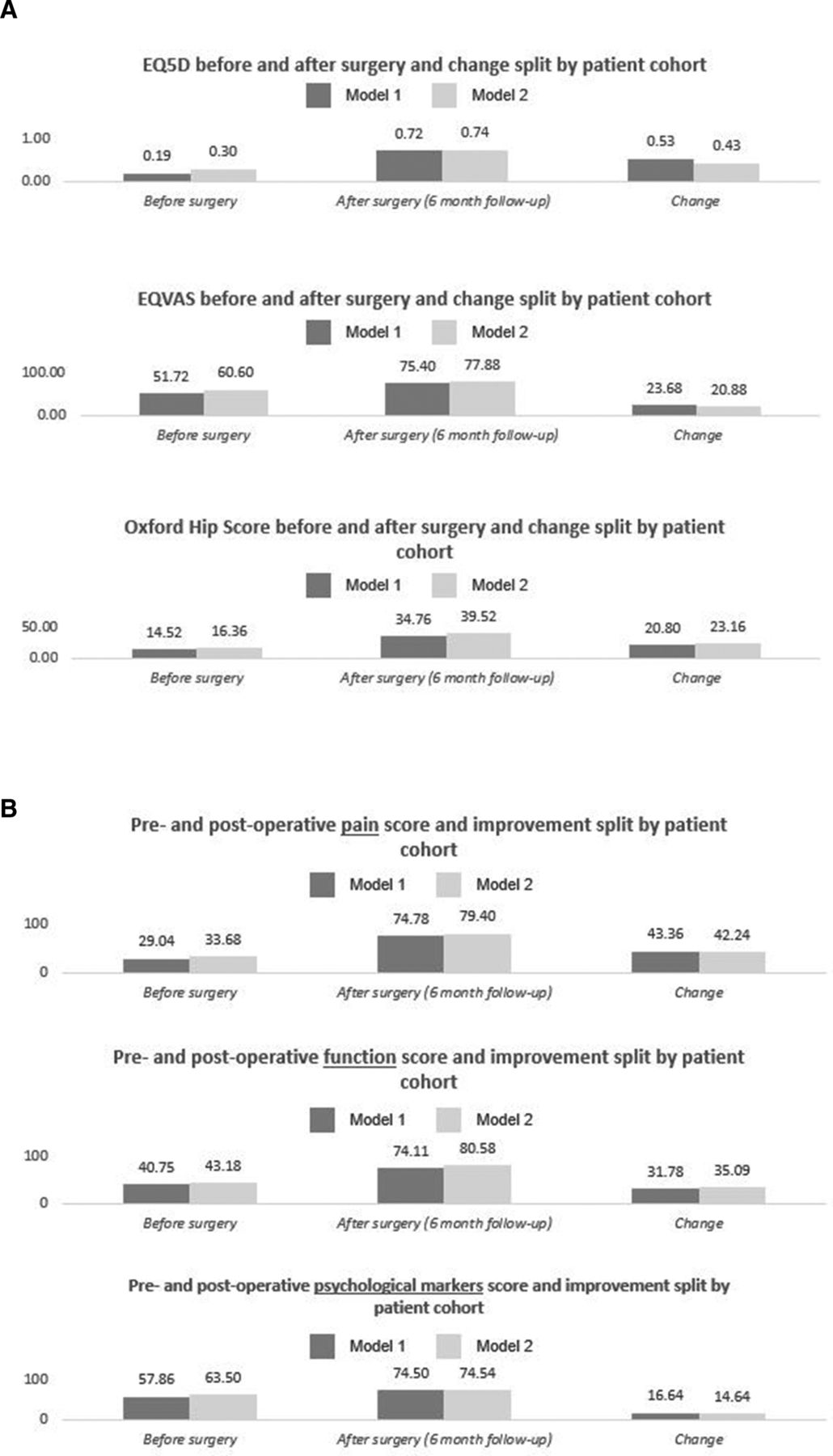 Value-based healthcare analysis of joint replacement surgery